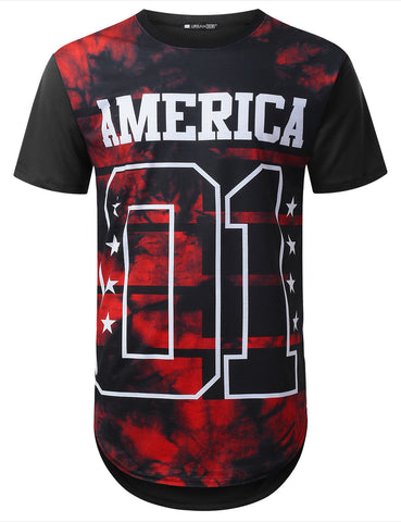 America Dyed Longline T-shirt