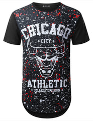 BLACK Chicago Varsity Longline T-shirt - URBANCREWS