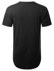 BLACK URBN Dyed Longline T-shirt - URBANCREWS