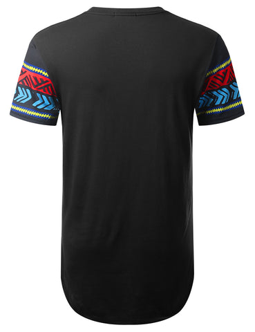 Tribal Dashiki Longline T-shirt