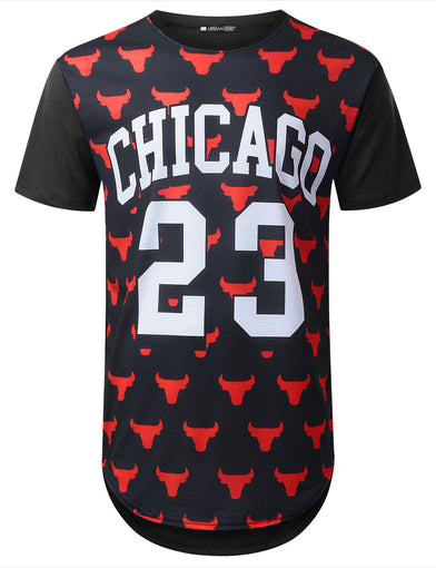 Bulls Chicago 23 Longline T-shirt