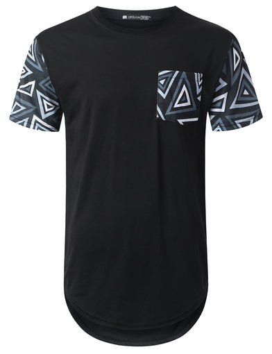 Triangle Pocket Longline T-shirt
