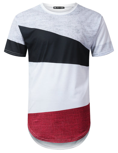 Casual Colorblock Longline T-shirt
