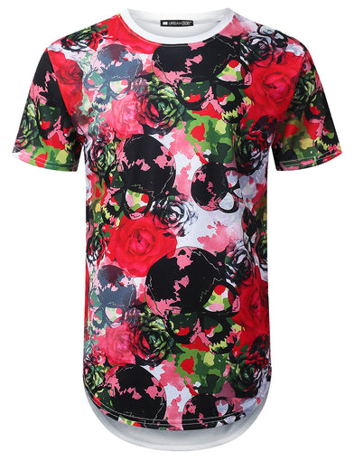 Watercolor Floral Longline T-shirt