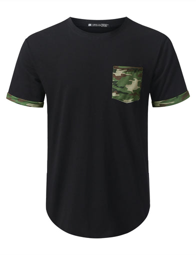 Camouflage Graphic Pocket T-shirt
