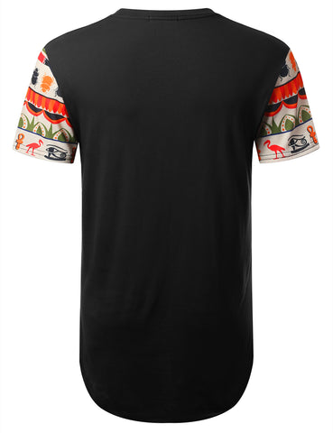 Egypt Pattern Dashiki Longline T-shirt