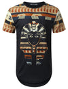 WHITE Egypt Pharaoh Dashiki Longline T-shirt - URBANCREWS