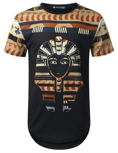 Egypt Pharaoh Dashiki Longline T-shirt