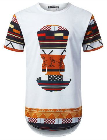 Ancient People Dashiki Longline T-shirt