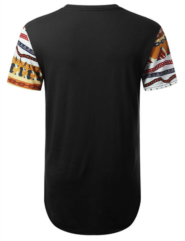 Egypt Pyramid Dashiki Longline T-shirt