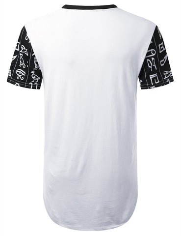 Ancient Symbols Dashiki Longline T-shirt