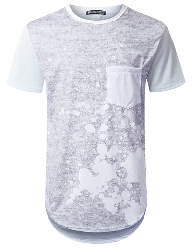Marled Splatter Pocket Long T-shirt