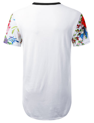 Colorful Floral Longline T-shirt