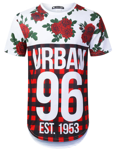 Urban 96 Plaid Panel Longline T-shirt