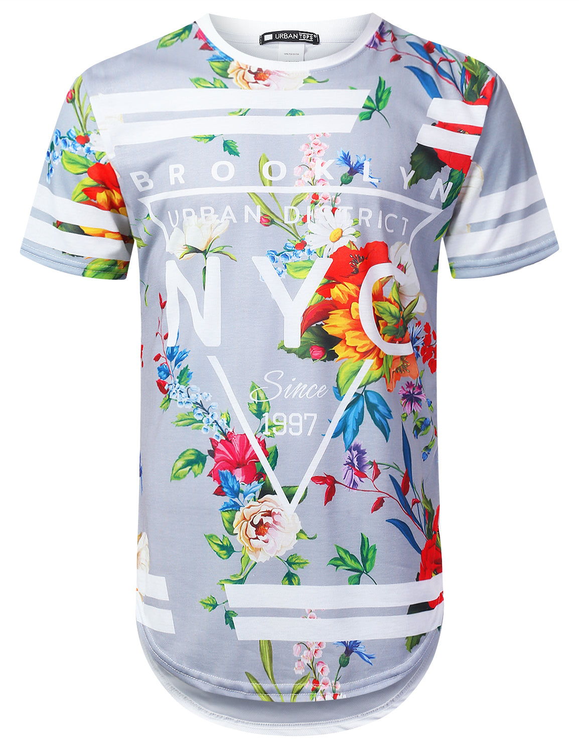 GRAY NYC Floral Longline T-shirt - URBANCREWS
