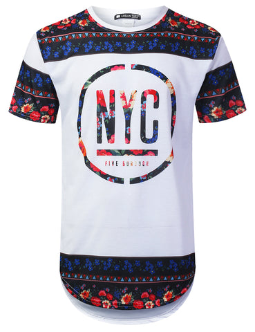 New York Rose Longline T-shirt