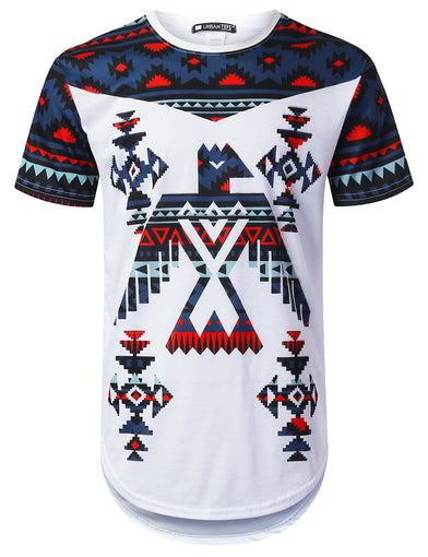Eagle Aztec Graphic Longline T-shirt