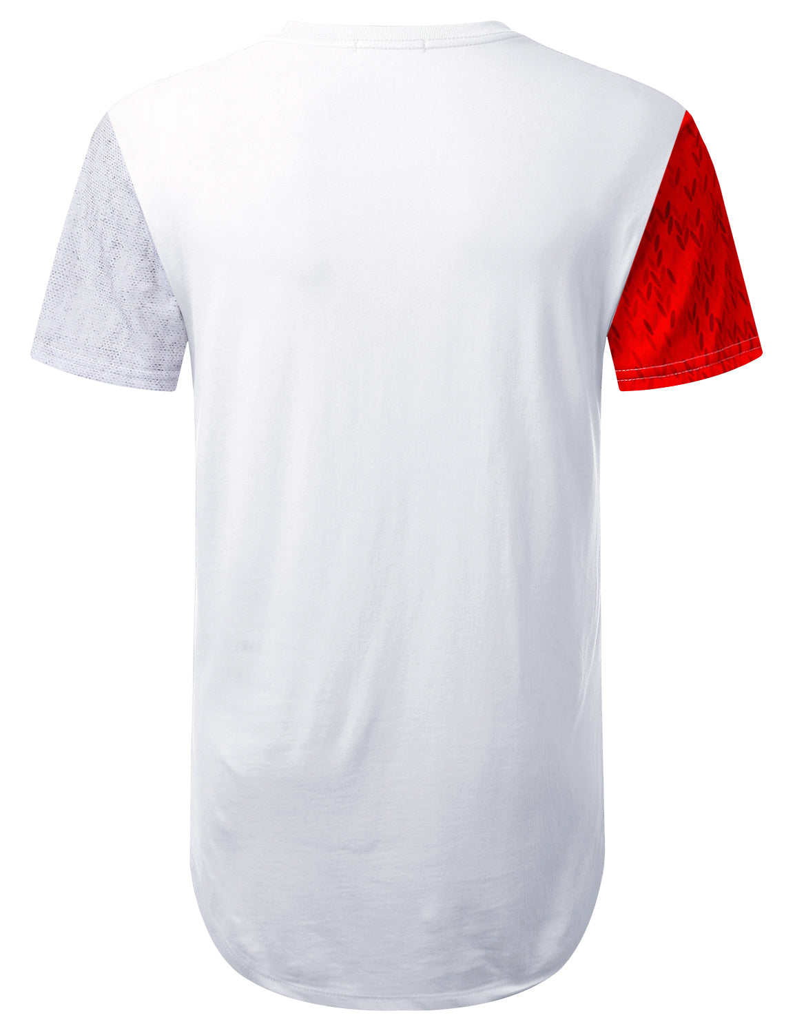 WHITE Variety Colorblock Longline T-shirt - URBANCREWS