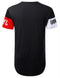 BLACK NYC Image Cut Longline T-shirt - URBANCREWS
