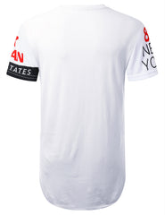 WHITE New York 1986 Longline T-shirt - URBANCREWS