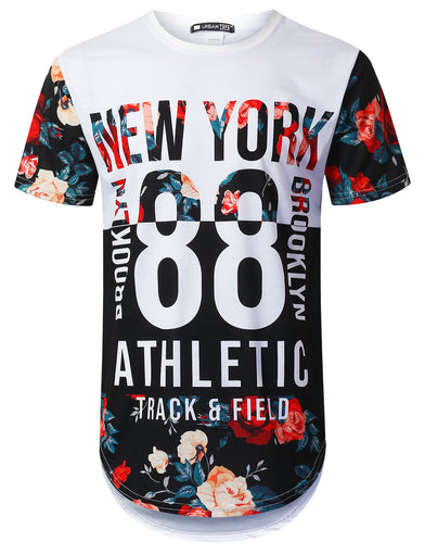 Athletic 88 Floral Longline T-shirt