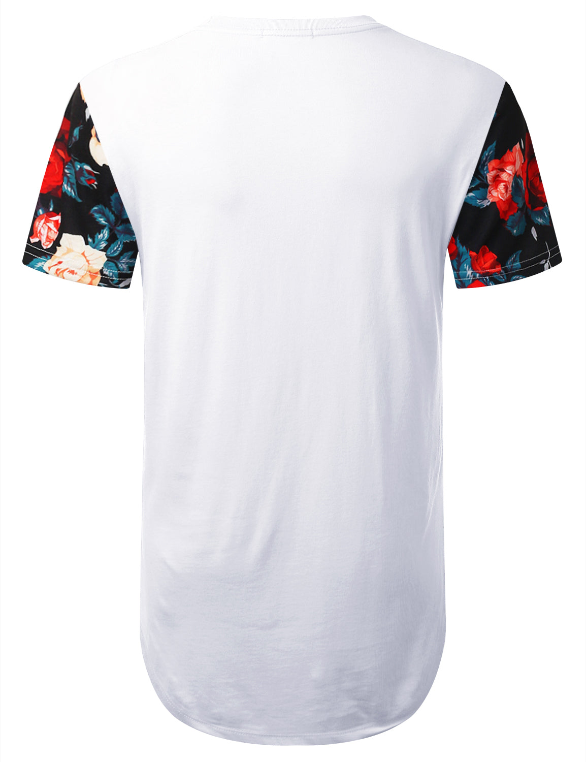 WHITE Athletic 88 Floral Longline T-shirt - URBANCREWS