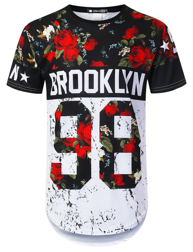 Brooklyn Rose Floral Longline T-shirt