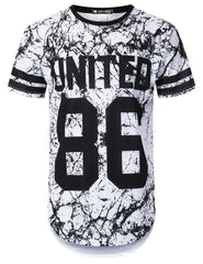 WHITE United 86 Varsity Longline T-shirt - URBANCREWS