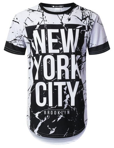 NYC Crack Dyed Longline T-shirt