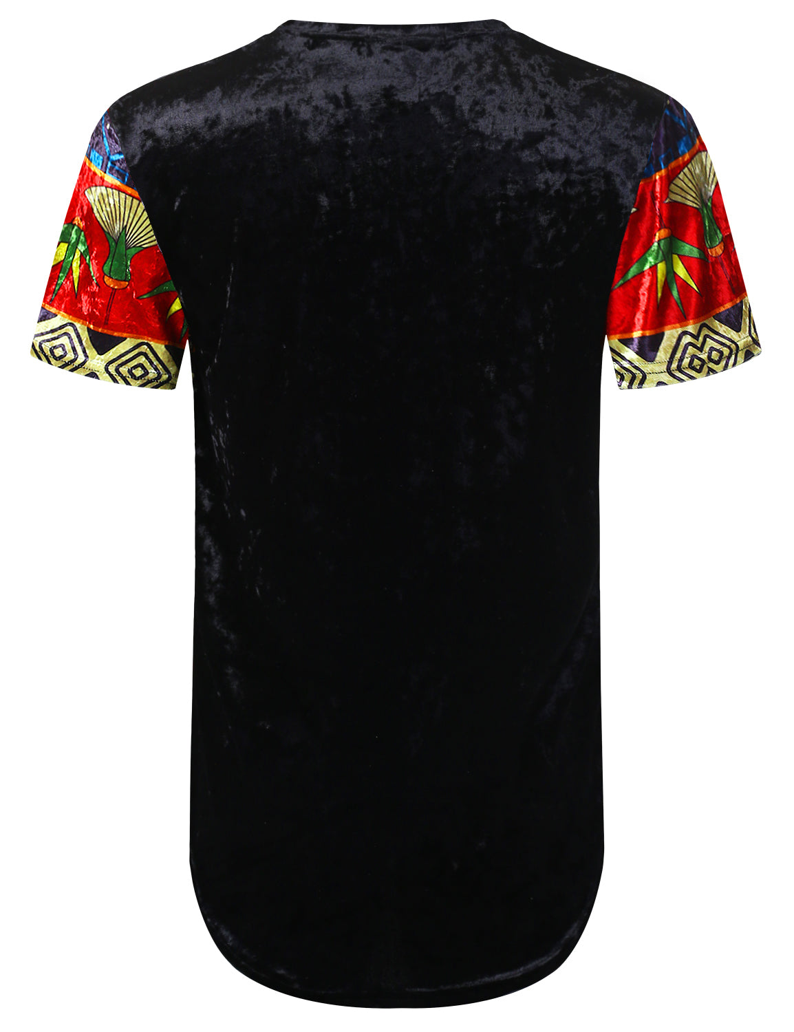 BLACK Ancient Egypt Crushed Velvet T-shirt - URBANCREWS