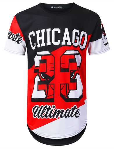 Colorblock Chicago 23 Longline T-shirt