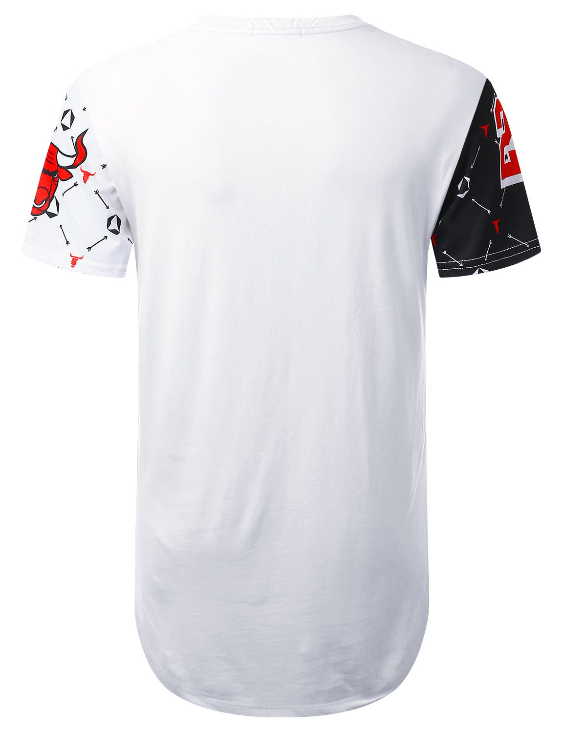 WHITE Diamond Bulls Graphic Longline T-shirt - URBANCREWS