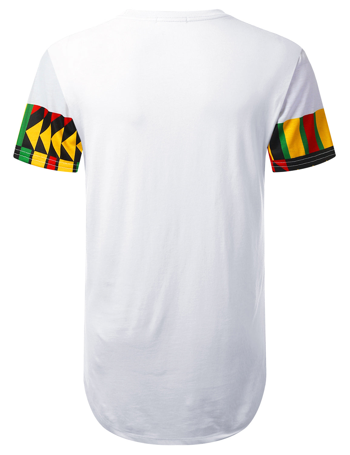 WHITE ZigZag Aztec Pocket Longline T-shirt - URBANCREWS
