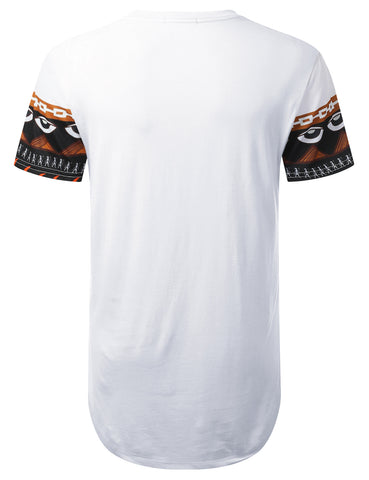 Patterned Aztec Longline T-shirt