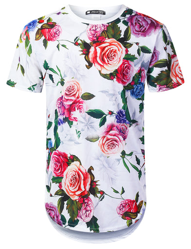 Winter Rose Floral Longline T-shirt