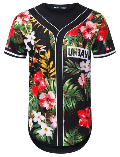 Forest Floral Jersey Longline T-shirt