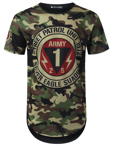 Army 1972 Camouflage Longline T-shirt