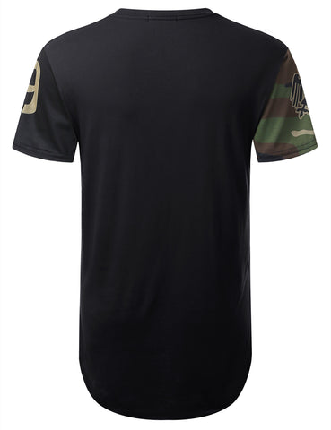 Fighter Camouflage Longline T-shirt