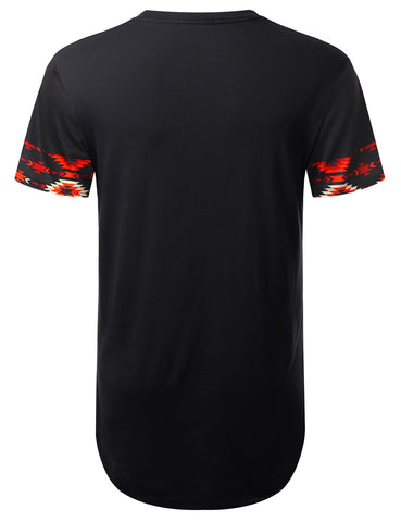 South 99 Aztec Longline T-shirt
