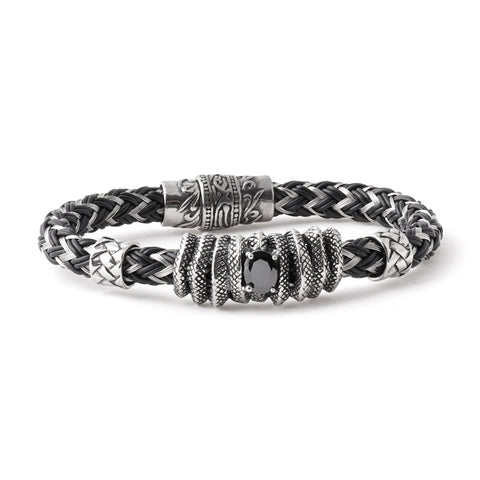 Stainless Steel Wire and Rubber Bracelet