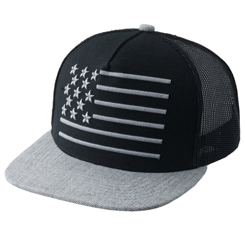 USA Flag Trucker Snapback