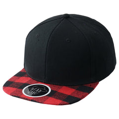 REDBLACK Bill Plaided Snapback  - URBANCREWS