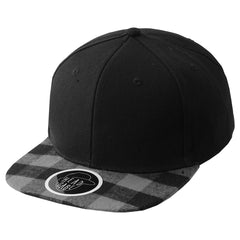 GRAYBLACK Bill Plaided Snapback  - URBANCREWS