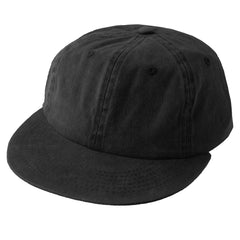 BLACK Pigment Dyed Unconstructed Flat Bill Strapback - URBANCREWS