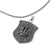 SILVER Stainless Steel Crown Pendant Necklace - URBANCREWS