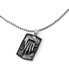 SILVER Stainless Steel Skeleton Hand Pendant Necklace - URBANCREWS