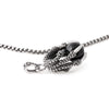 SILVER Stainless Steel Dragon Claw Pendant Necklace - URBANCREWS