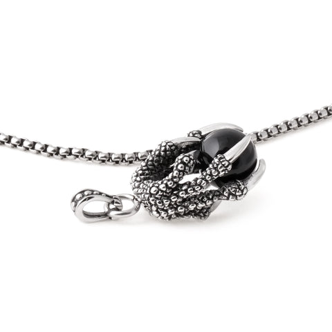 Stainless Steel Dragon Claw Pendant Necklace