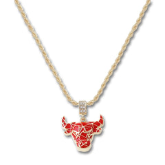 GOLD Bull Pendant Necklace - URBANCREWS