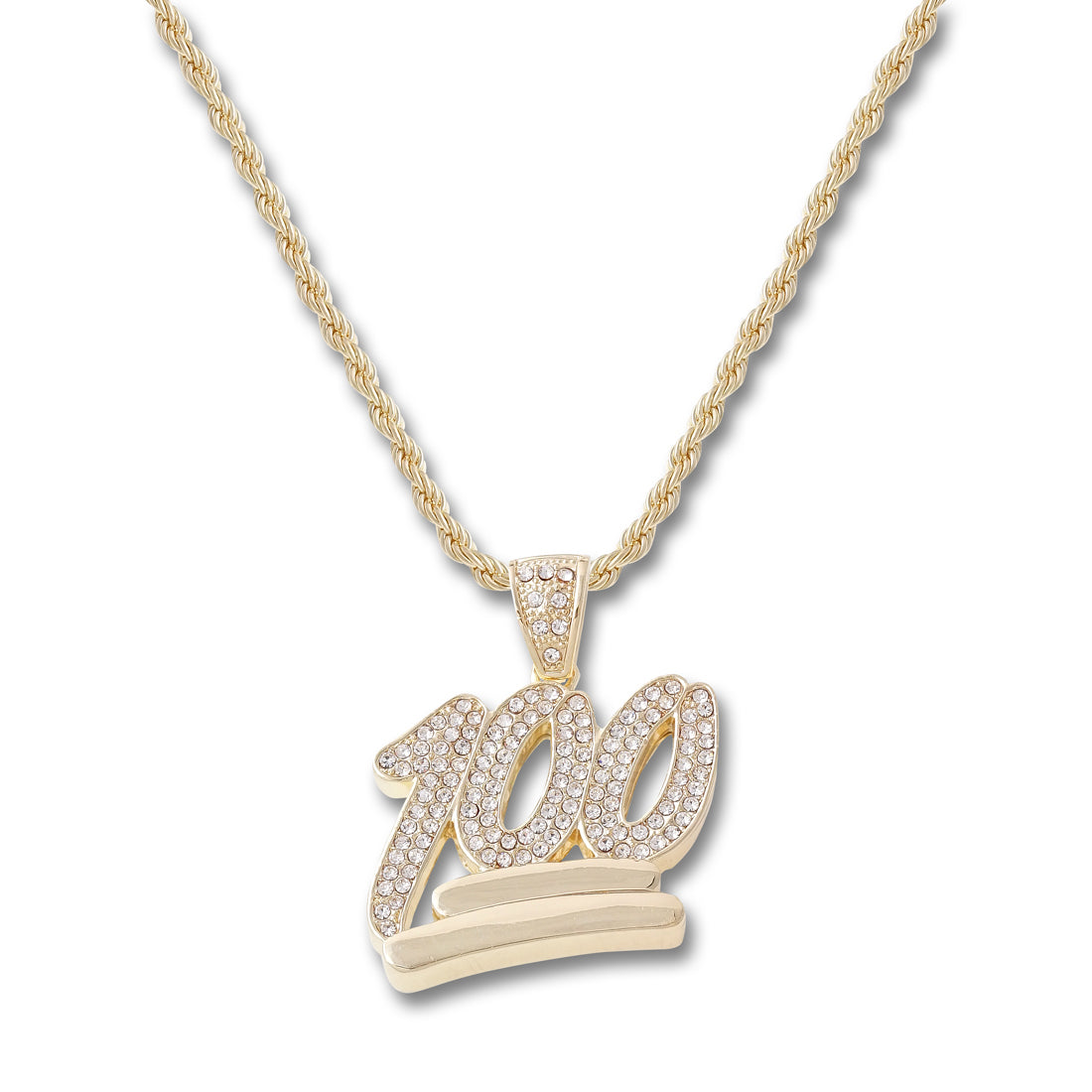 GOLD 100 Pendant Necklace - URBANCREWS
